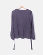Suéter gris escote pico Promod