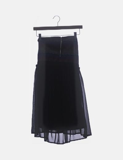 Vestido negro étnico