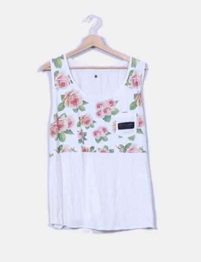 Camiseta beige print floral Costalamel