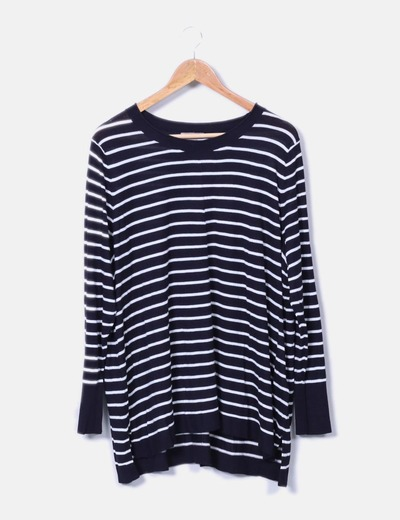 Pull en maille rayé H&M