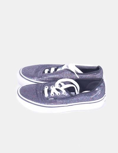 zapatillas vans purpurina