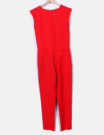 Zara Macacão vermelho longo (desconto de 75%) - Micolet b578038de0