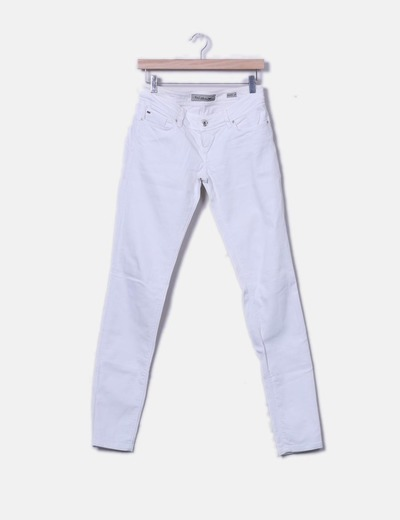 Pantalón denim blanco