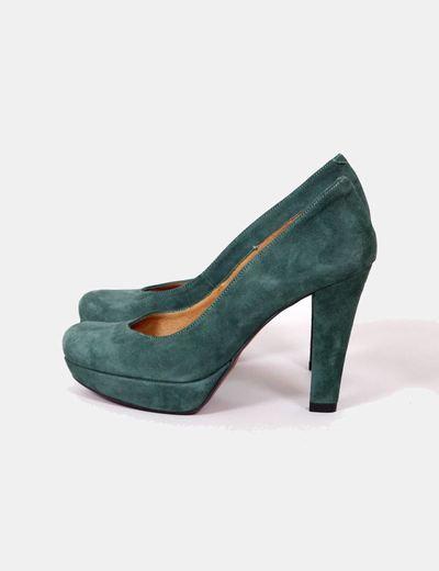 Chaussures vertes en daim Vass