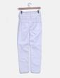 Jeans denim blanco tiro alto Mango