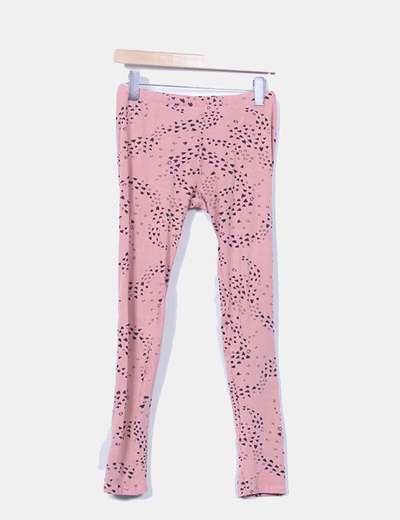 Leggings rosa print corazones Zara