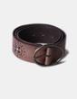 Cinturón marrón con tachas Massimo Dutti