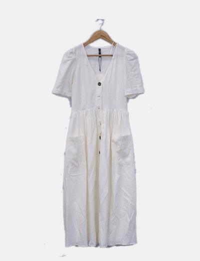Vestido blanco con botones