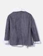 Abrigo gris marengo con borreguito Suiteblanco