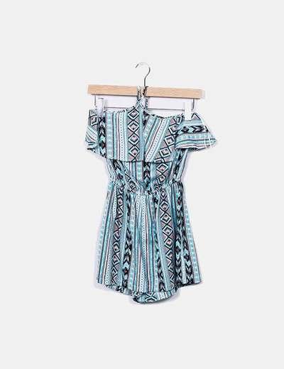 Primark Blauer Shorts Overall bedruckt (Rabatt 41 %) - Micolet 4e5c9f51d0