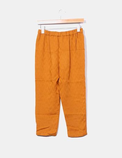 Pantalon harem mostaza