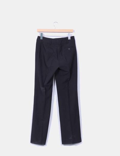 Pantalon sarga negro wide leg