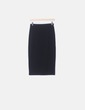 Falda tubo midi negra Zara