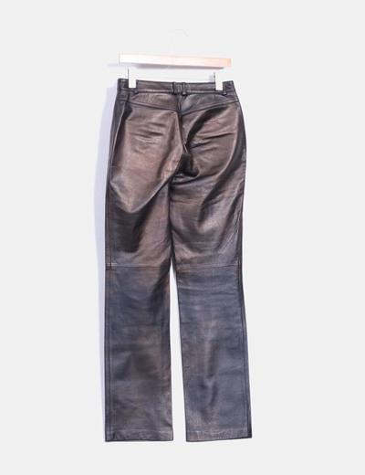 Pantalon marron de piel