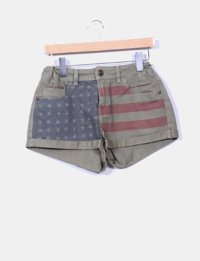 Short estampado verde militar Pull&Bear