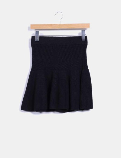 Falda negra punto grueso Claudie Pierlot