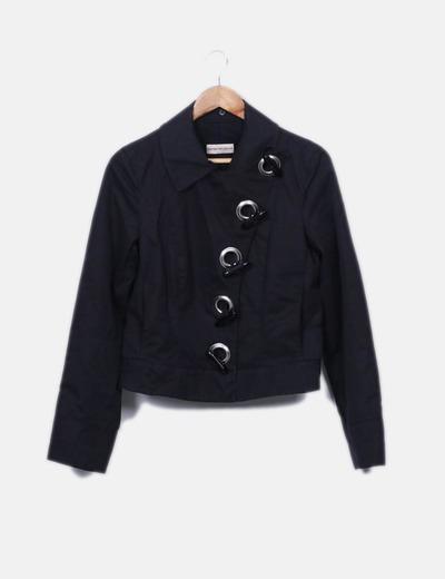 Jaqueta curta preta Emporio Armani