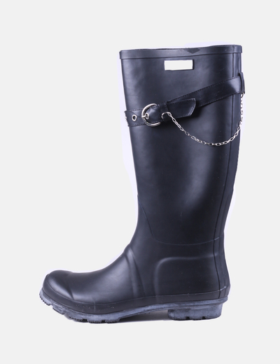 Black water boots with buckle Guess