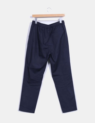 pantalon baggy azul marino zara