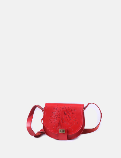 Bolso rojo troquelado