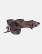 Sandalia de cuña marrón con hebilla Bershka