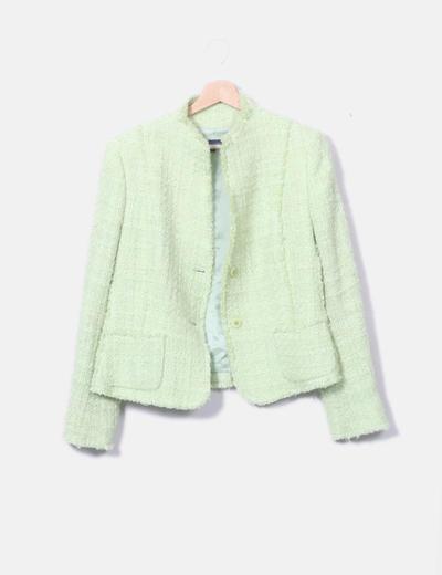 Chaqueta verde tweed
