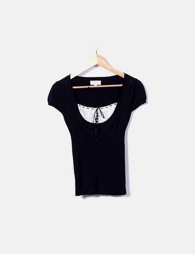 Camiseta de punto combinada Suiteblanco