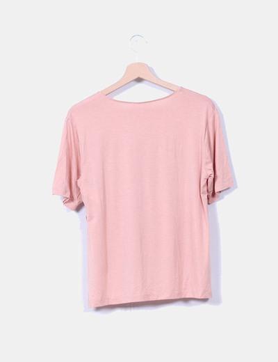 Camiseta salmon fluida tail hem