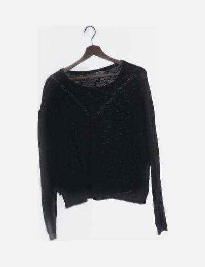 Jersey tricot negro