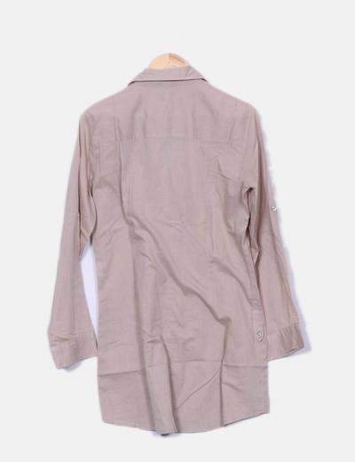 01a59e84f H M Vestido camisero beige (descuento 91%) - Micolet