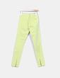 Pantalón verde lima con cremalleras Lft