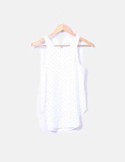 Blusa blanca con motas