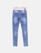Jeans denim con abalorios Top Queens
