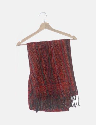 Pañuelo print floral tonos rojos