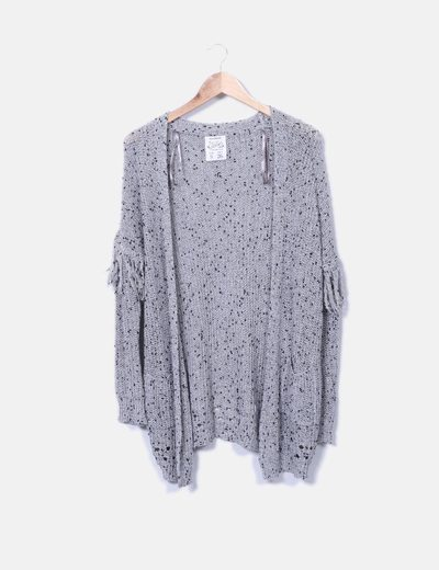Cardigan tricot gris