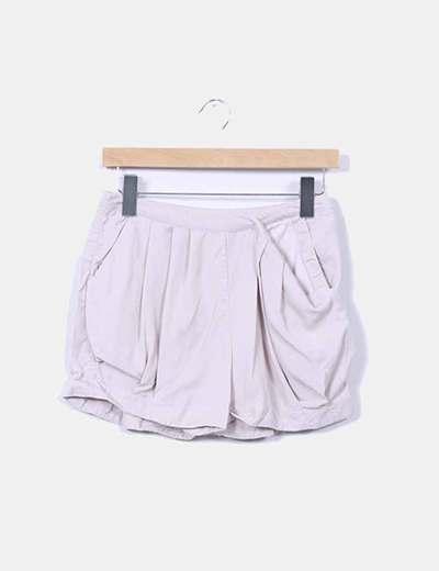 Shorts nude con bolsillos H&M