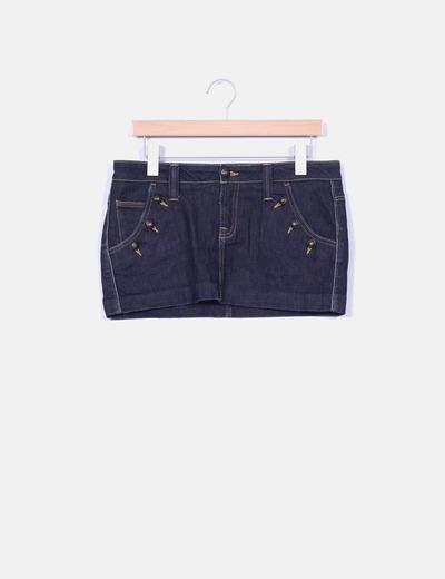 Mini falda vaquera tono oscuro  Pepe Jeans