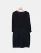 Vestido negro elástico drapeado Elena Miró