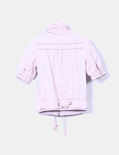 Chaqueta rosa palo manga corta