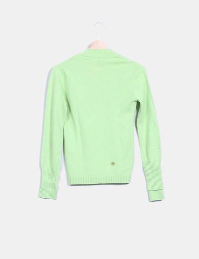 Jersey verde lima detalle botones
