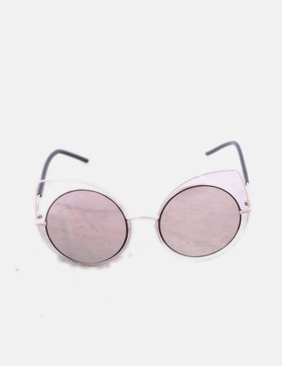Gafas de sol cat eye combinadas