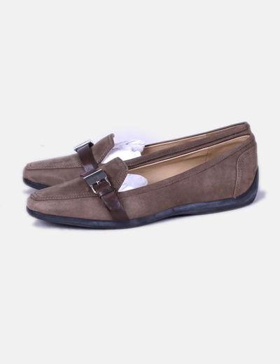 Chaussure boucle Geox 70Micolet deréduction marron AL5j34R