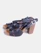 Sandales plate noires -forme Yokono