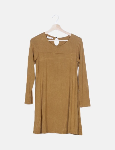Vestido midi mostaza