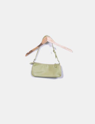 Bolso shoulder verde troquelado