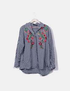 Con Asimétrica Zara Camisa Asimétrica Bordados Camisa xgZqZv8z 3ad3877f1958