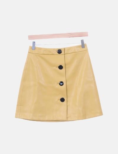Falda amarilla polipiel