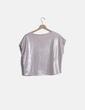 Blusa rosa metalizada Zara