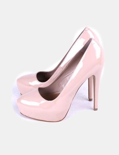 Chaussures couleur nude en cuir verni Steve Madden