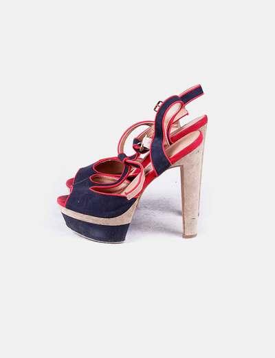 Sandales tricolor à talon Carolina Boix